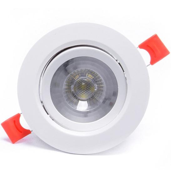 Spot Led 7w Redondo Branco Frio Direcionavel Bivolt Iluminação Residencial Casa Sala