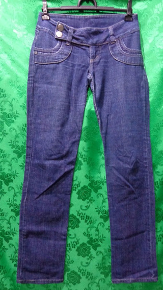 Calça Feminina Jeans Marca Dooplex Cós Baixo Tm/38