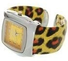 Relógio De Pulso Bracelete De Onça Cromado