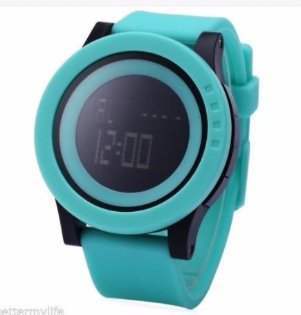 Elegante Reloj Quarzo Skmei 1142 Verde Deportivo Sumergible
