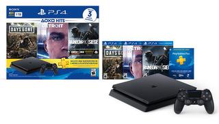 Playstation 4 1tb Slim Ps4 + Joystick + 3 Juegos Sony Store