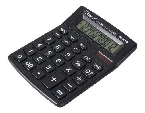 Calculadora Kenko De Mesa Kk-9633b Display 12 Digitos