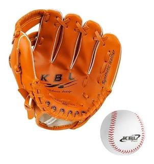 Guante De Beisbol 9 + Pelota Cocida Baseball Kbl Sintetic