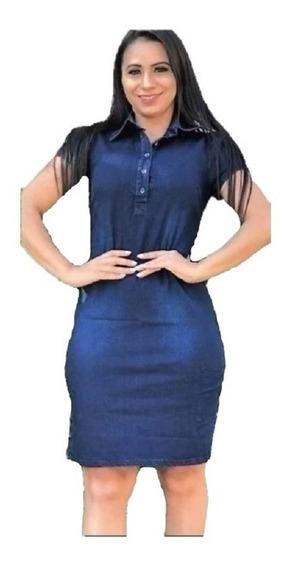 Vestidos Jeans Femininos Modelo Com Botões Moda Evangelica