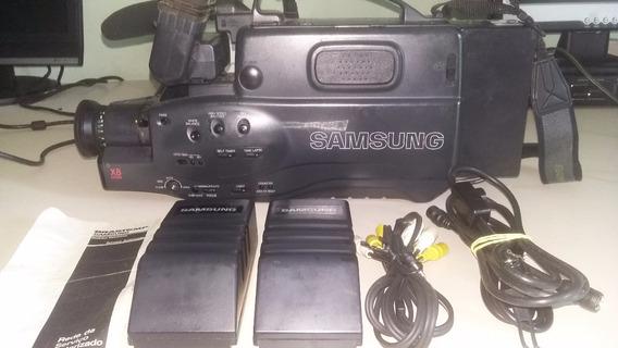 Filmadora Samsung Vhs Scf710 Completa Com Cabos