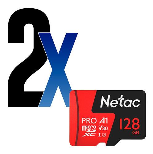 Cartão Memória Microsd 128gb Extreme Pro Netac 2un