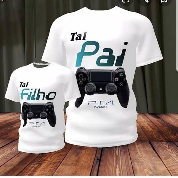 Camisetas Ps4 Pai E Filho Estampadas