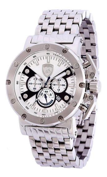 Relógio Masculino Lamborghini Lb90027653m Coleção Ferruccio