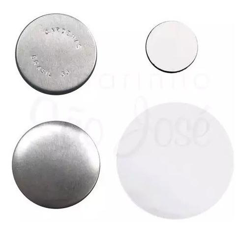 Button Imã De Geladeira 38mm (200 Buttons Desmontados)