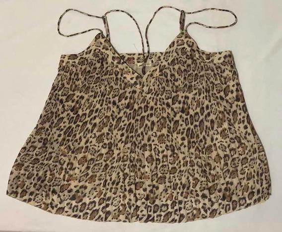 Blusa Estampado Animal Print Tirante