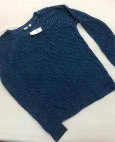 Gap Suéter Cerrado De Mujer Azul Nuevo Y Original Talla S
