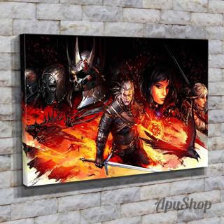 Cuadros Lienzo 60x40 Videojuego The Witcher 3 Wild Hunt
