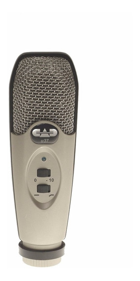 Microfone Estúdio De Gravação Condensador Cad U37 Usb