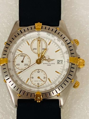 Relógio Breitling Aço Detalhes Em Ouro 18k,automático 39mm.