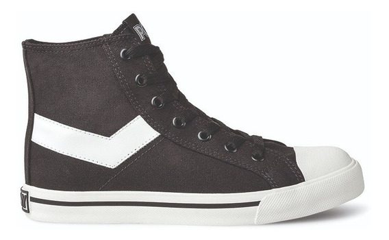 Zapatillas Pony Shooter Hi Canvas Negras / Blancas