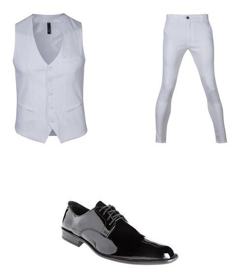 Pantalon Chupin Con Chaleco Y Zapatos De Vestir Import Usa