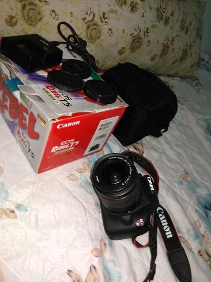 Câmera Canon T5 Rebel Com Todos Acessórios
