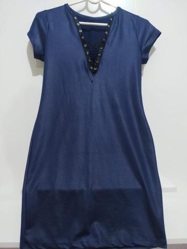 Vestido Malha Fina Azul Royal