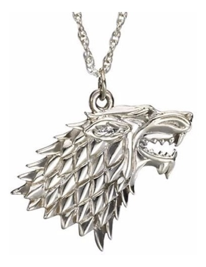 Colar Lobo Casa Stark Game Of Thrones Direwolf