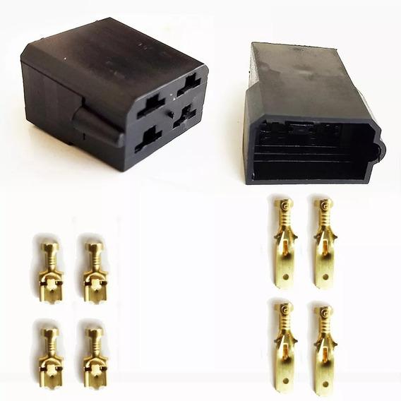 Conector 4 Vias Com Terminais Pacote Com 10 - Permak