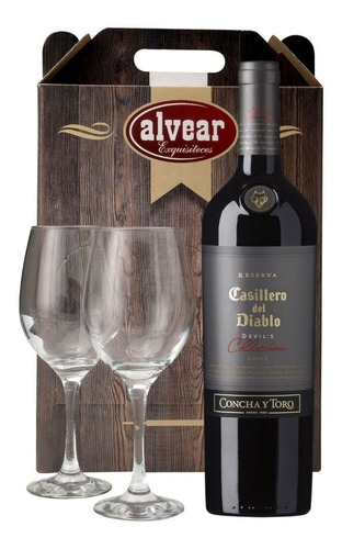 Vino Casillero Del Diablo Devil Tinto + 2 Copas