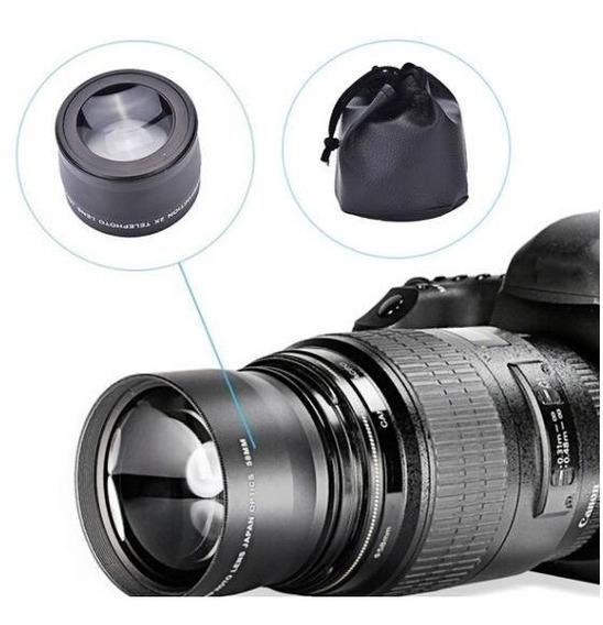 Lente Teleobjetiva Profissional 58 Mm 2x0 Para Nikon, Canon,