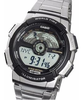 Reloj Casio Ae-1100wd Cronografo Temporizador Alarmas 10 Atm Envio Gratis Watch Fan Locales Palermo Y Saavedra