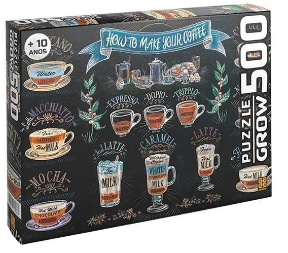 Puzzle Quebra Cabeça Café Gourmet 500 Peças Grow