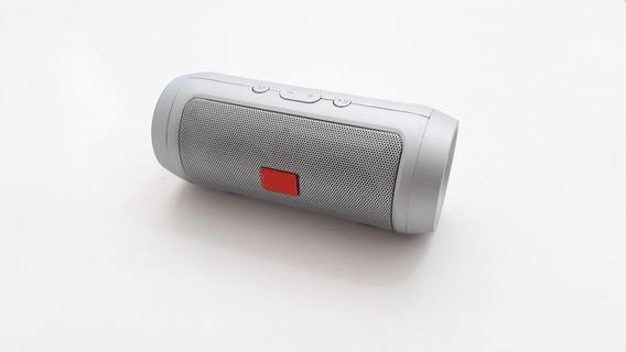 Caixa Caixinha De Som Portátil Charge Mini Bluetooth Il+ Potente Pequeno Prata