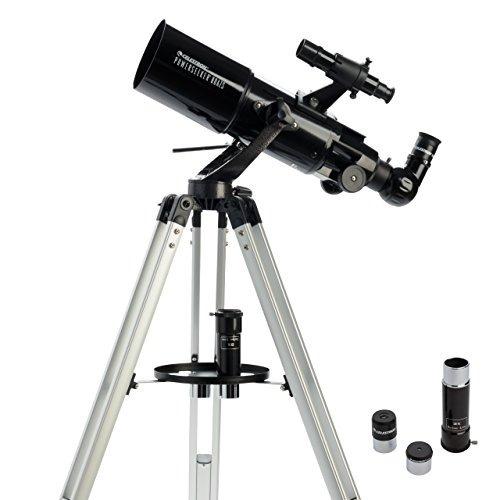Telescopio Celestron 21087 Buscador De Poder 80azs Negro