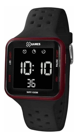Relógio X-games Xgppd101-pxpx 38 Mm Silicone Preto