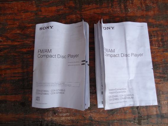 Manual Cd Player Sony Cdx-gt494u Cdx-gt490u Cdx-gt490us