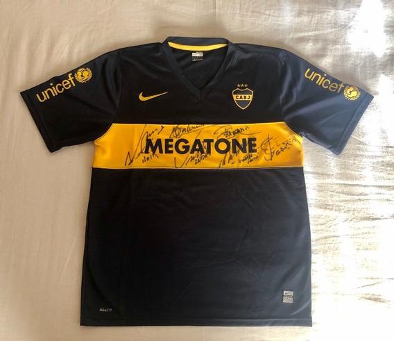 Camiseta Boca Juniors 2008 Megatone M Autografiada