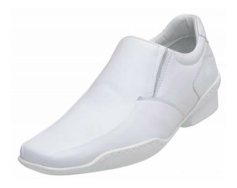 Sapato Social Couro Alcalay Garçom Conforto Bico Fino Gel