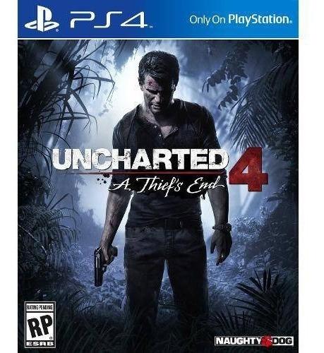 Uncharted 4 A Thiefs End Ps4 Mídia Física Original Novo