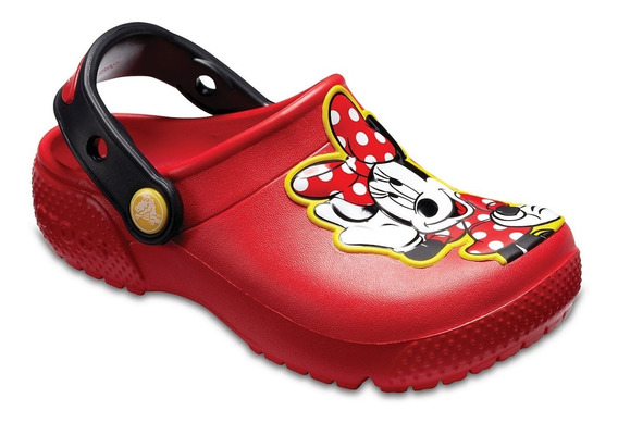 Crocs Fun Lab Disney Minnie Mouse Clog K Niños Abc Deportes