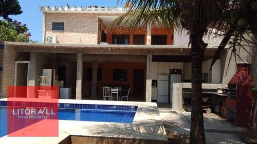 Imagem 1 de 14 de Sobrado Para Temporada Com 6 Dormitórios, 200 M² Por R$ 1.000/dia - Suarão - Itanhaém/sp - So0264