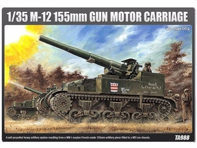 Academy - Tanque M-12 155mm - Gun Motor Carriage
