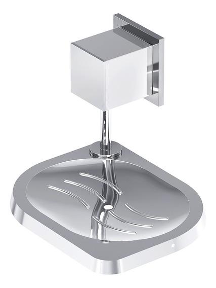 Saboneteira De Parede Banheiro Home Cromada 304 C 37 Meber
