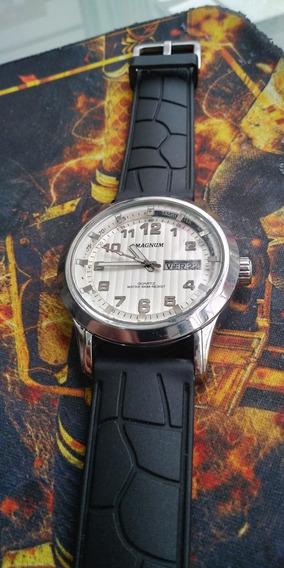 Relogio Magnum Ma32381 Grande , Caixa Aço 47mm, Lindo !