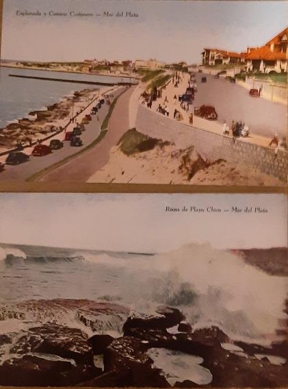 Tres Postales Antiguas Mar Del Plata - 1943 1947 1967