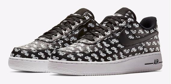 Zapatillas Nike Air Force Negro Con Blanco Zapatillas en