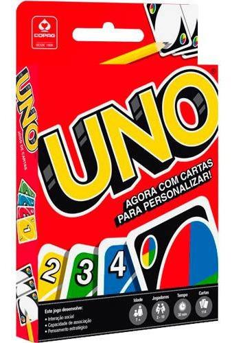 Jogo Uno 114 Cartas Original - Cartas P/ Personalizar Copag