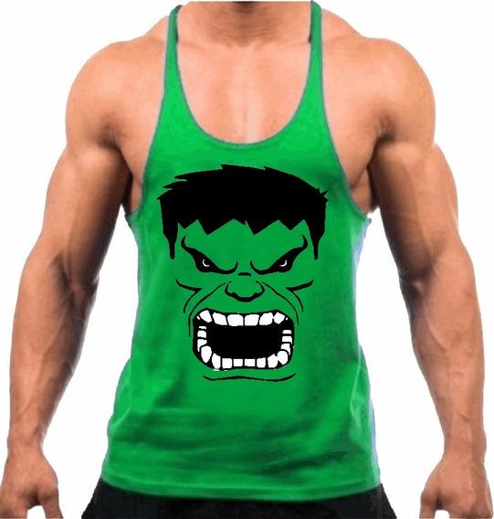 Camiseta Regata Cavada Treino Musculação Academia Fit Hulk