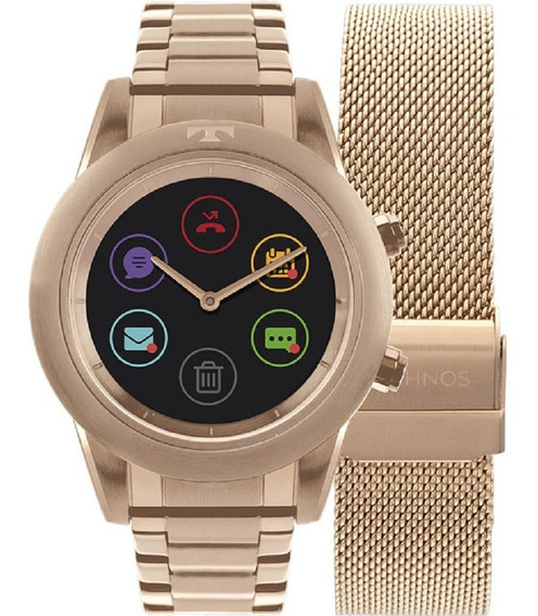 Smartwatch Technos Duoconnect Touchs. Dourado 39mm P01ae4p