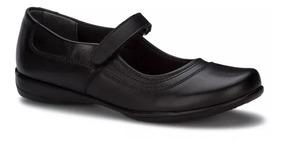 Zapato Escolar Flat Mary Jane Mujer Negro Andrea 2576848