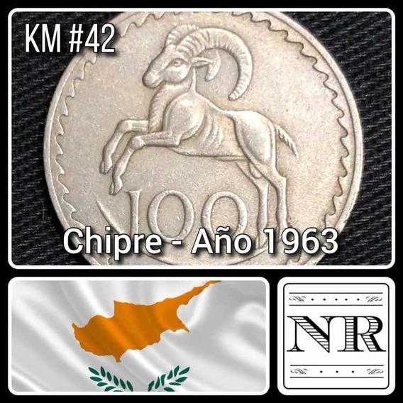 Chipre - 100 Mils - Año 1963 - Km # 42 - Carnero Saltando