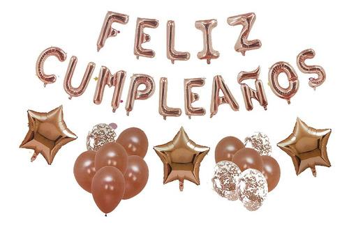 Imagen 1 de 1 de Set De Decoración Cumpleaños Globos Y Guirnalda