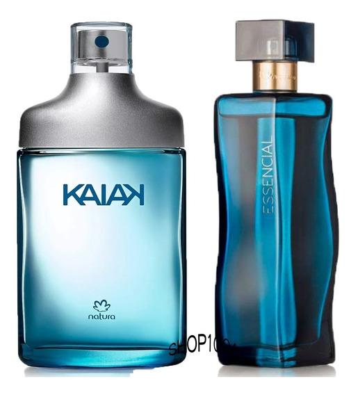 Desodorante Colonia Kaiak Tradicional + Deo Parfum Essencial Oud Feminino - 100ml