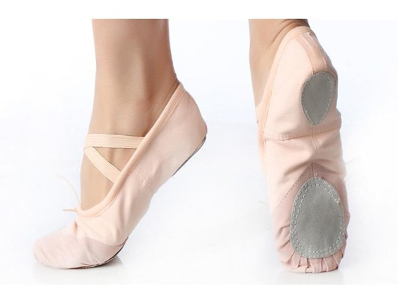 Sapatilha De Ballet Em Lona Sola Dividida